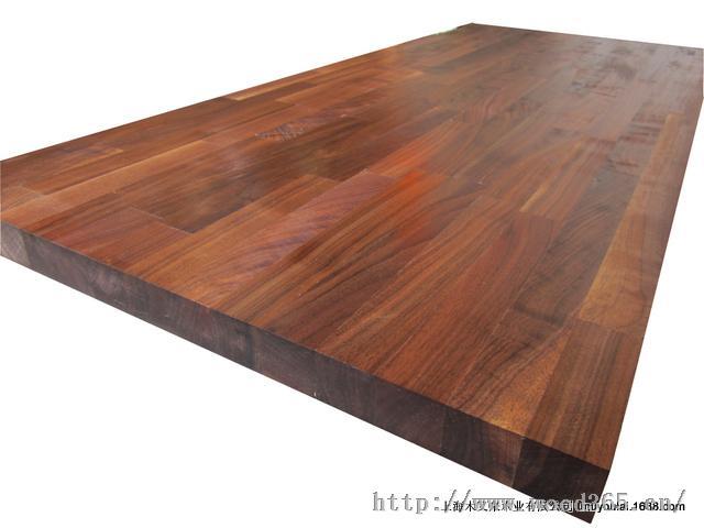 美国黑胡桃实木岛台 厨房桌面板 拼板 指接板