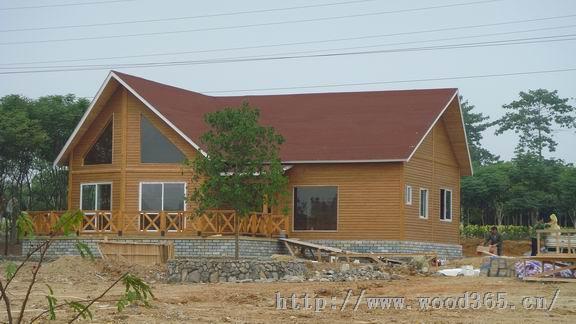青岛木结构房屋木制别墅休闲木屋