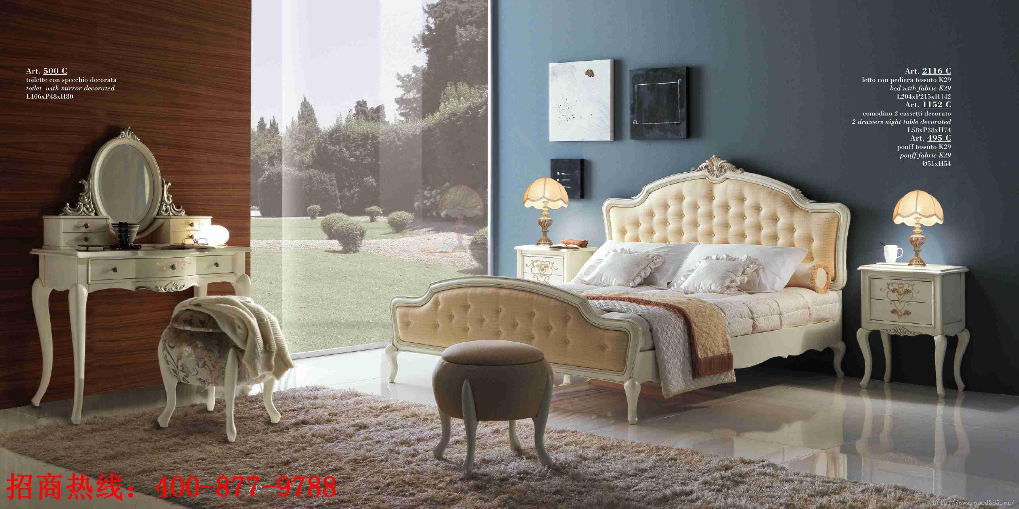 意大利家具喬姿卡薩---臥室如此奢華,誰還愿意起床圖片