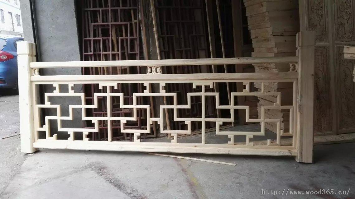 仿古实木栏杆+中式花格栏杆+lg-001