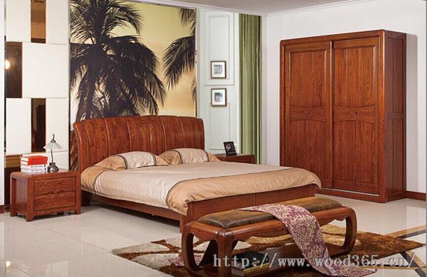 赤金檀木卧房实木家具