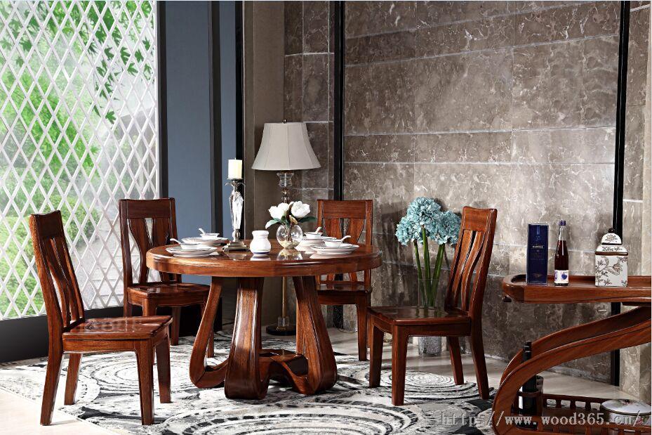 金丝木餐厅实木家具-山东盛木缘木业有限公司
