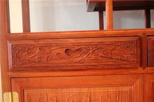 红木欧式台盆柜图片