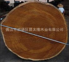 一米以上直径菠萝格 印茄木 原木大板 古老大门