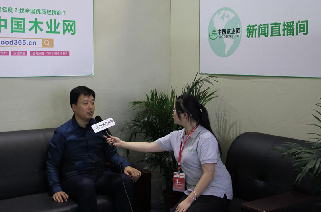 中国木业网专访临沂木博会齐总