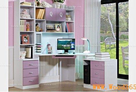 欧式书桌带书柜