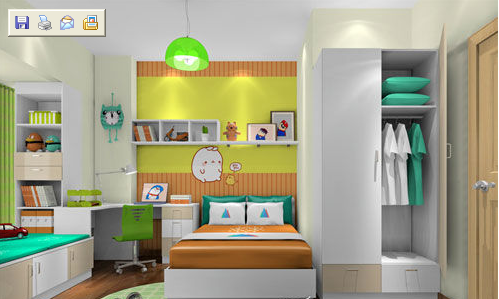 儿童房有柱子衣柜设计怎么办