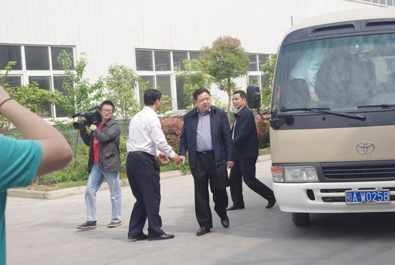 """湖北省副省长许克振等领导莅临""""健居乐""""考察指导"""