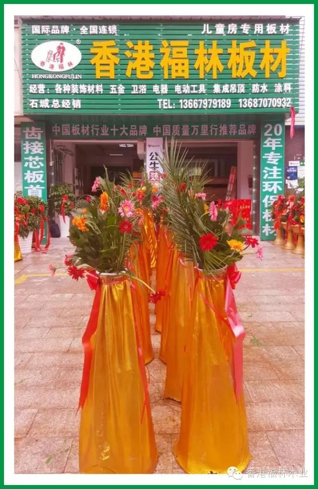 热烈祝贺香港福林板材(江西·石城)八月初八盛大开业图片