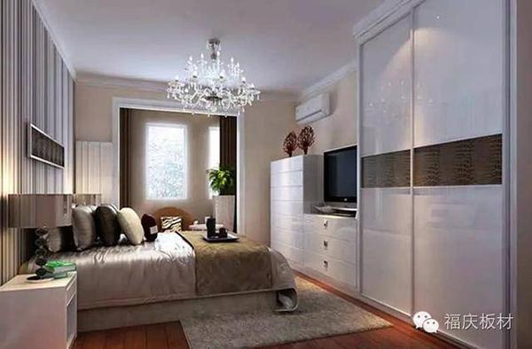 看看这些巧妙的卧室衣柜电视柜一体效果图