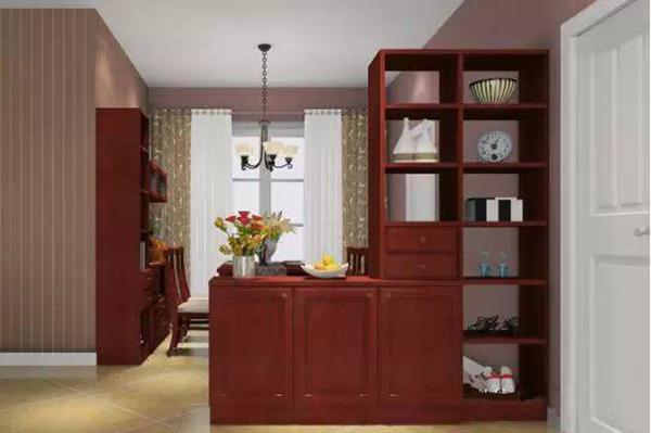 玄关鞋柜隔断效果图 鞋柜与隔断柜组合方案