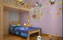 手绘墙怎么去装饰主卧和儿童房