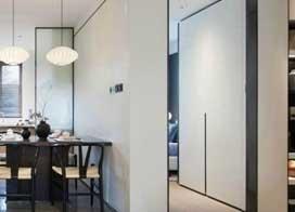 很時尚的新中式,90平米兩房一廳裝修效果圖