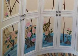 实操家庭手绘墙绘画效果图,非常漂亮不说还超简单