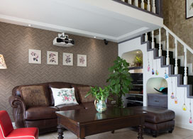 80后3口之家,140平米美式两房一厅装修效果图
