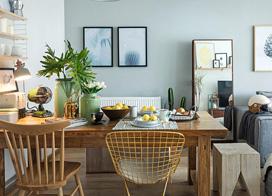 70平米小户型公寓,两房两厅装修效果图片