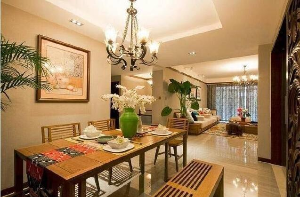 100平米东南亚风格四居室