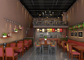 10张餐厅店面装修效果图赏析