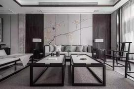 四室二厅新中式装修效果图
