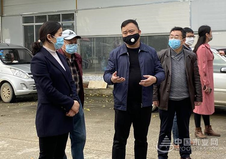 柳城县县委书记调研鹏森缘木业加工产业园发展情况