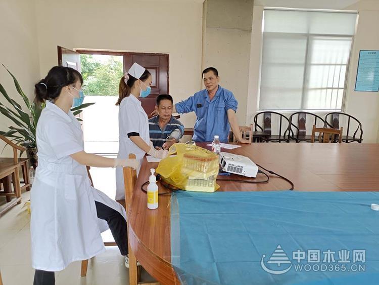 关心员工,关注健康,明源木业组织开展职工健康体检工作!
