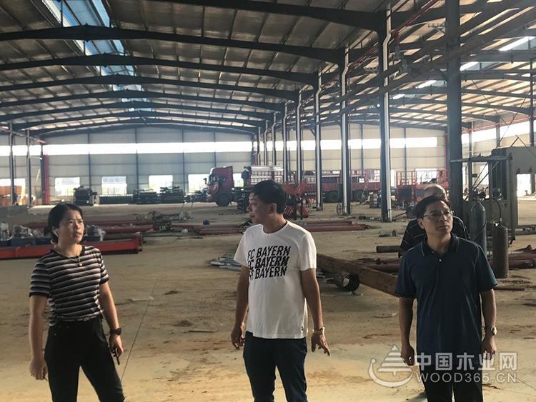 鹿寨县委领导一行莅临桥牌木业调研鹿寨生产基地进程等工作