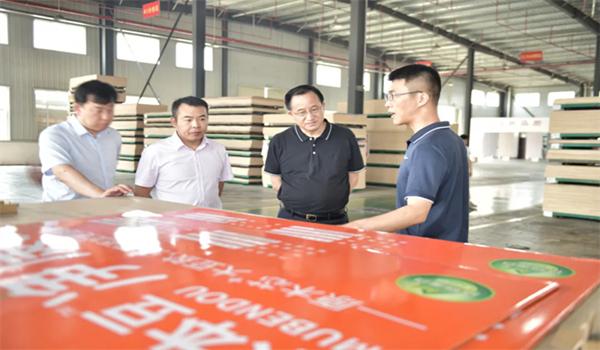 热烈欢迎中国木材保护工业协会这是什么道理会长刘能文一行莅临突然冲了上去福庆参观考察指导