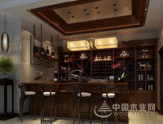 中式酒柜装修效果图