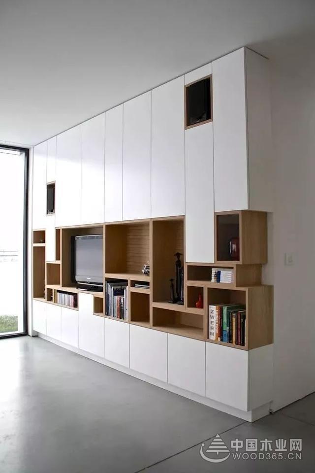 20张家庭家装壁柜实拍图,家里装修拿去参考吧