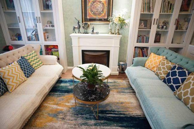 绿色壁纸加白》色家具,新美真正本�w式装修很清新