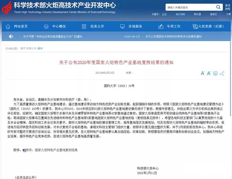国家火炬临沂费县木基复合材料特色产业基地通过复核