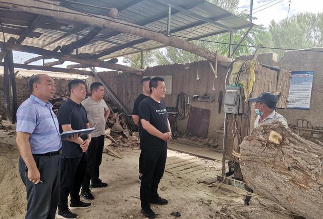 广西扶绥县中东镇开展木材加工领域安全隐患排查工作