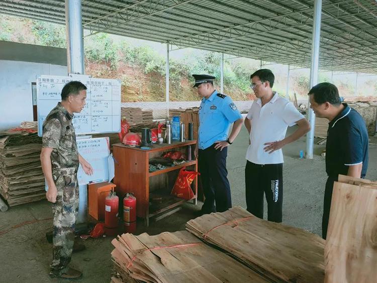 广东肇庆封开县开展木材加工厂安全检查