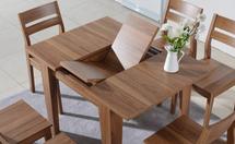 什么是可伸缩餐桌,可伸缩餐桌优缺点和材质介〗绍