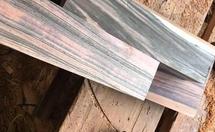 两种假冒条纹乌木的木材
