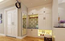 进门玄关鞋柜一般多高合适?进门玄关鞋柜做什么颜色合适?