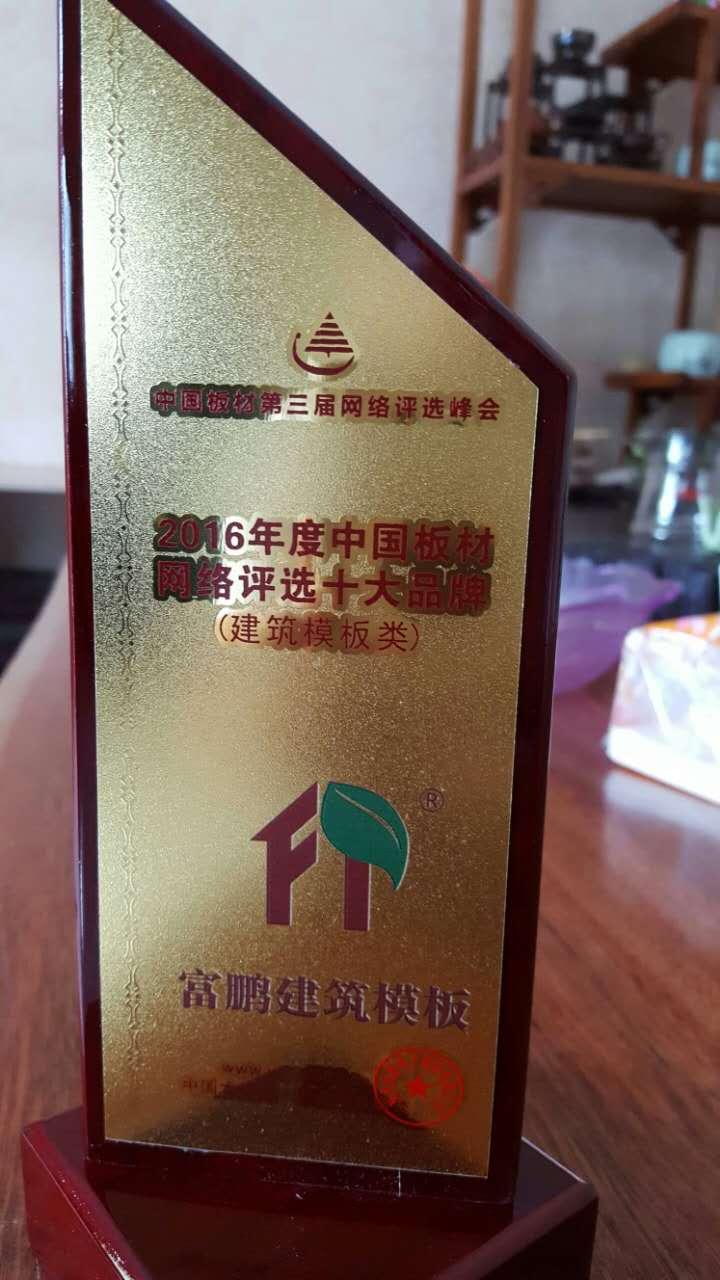 2016年度中国板材十大品牌