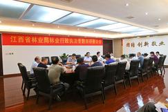 江西林业局木材流通监督管理局到安远县调研林业行政执法工作