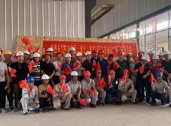 宁丰集团(淮北)年产40万m³OSB项目首板下线