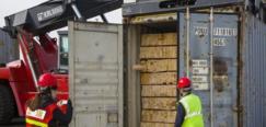 从俄罗斯坎斯克到中国 今年首列中俄木材班列抵达甘肃武威市