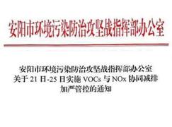 河南安阳VOCs严控上线,家具企业全面停产!