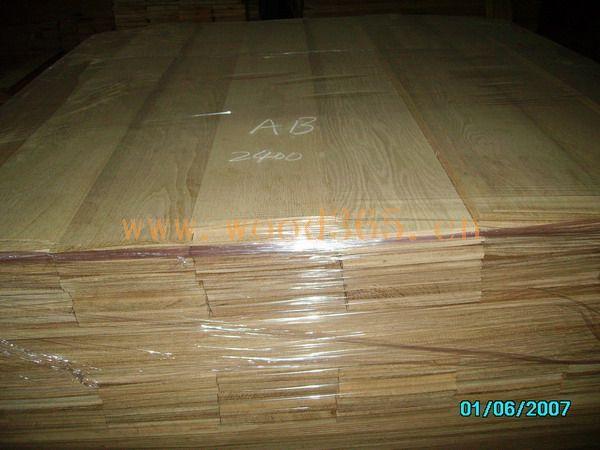 白橡锯切地板木皮
