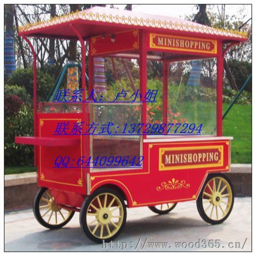 东莞时尚商业街售货车;实木售货车