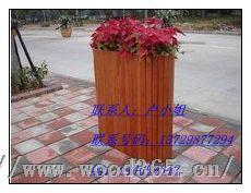 广西广场花槽;实木花槽;户外花车