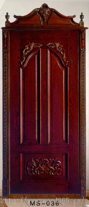 南京实木雕花套装门