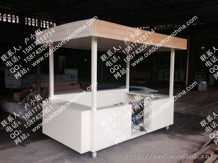 济源商业街售货车,襄樊商业街售货亭,户外木制外卖车
