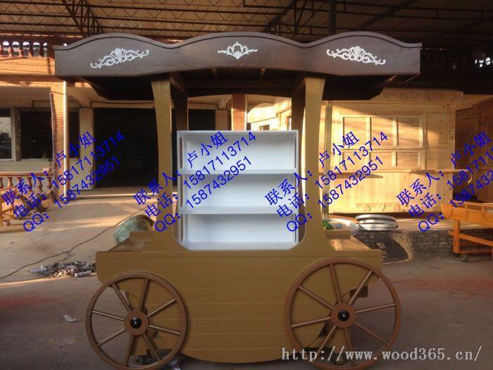 荆门广场售货车,武汉景区售货亭,木制贩卖车