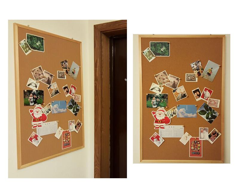 供应木框软木文化墙 扎钉告示板