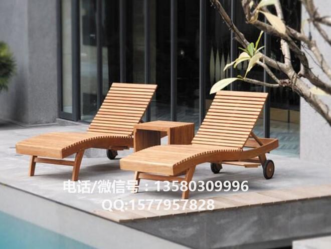 沙滩椅厂家 户外实木躺椅
