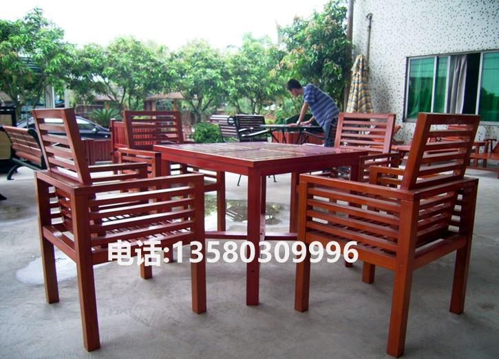 阳台桌椅厂家 实木野餐台椅